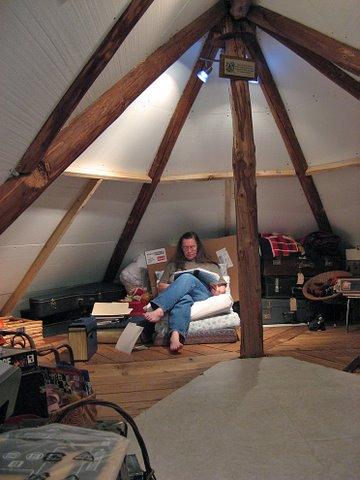 Grandma in her attic