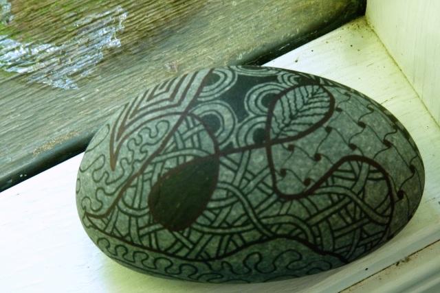 rock zendoodle oval