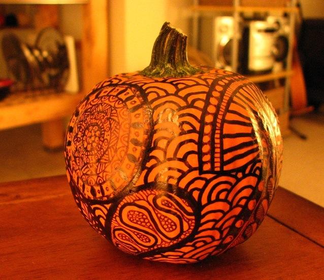 Photograph: Sharron R. McMillan Pumpkin: Maria Zen Doodle